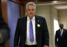 "FILE - In this May 21, 2019, file photo, Rep. Peter King, R-N.Y., arrives for a classified members-only briefing on Iran on Capitol Hill in Washington. King announced Monday, Nov. 11, 2019, he will not seek reelection in 2020. The 14-term Republican congressman said in a Facebook post that his commute was a main factor in his decision, saying he wants ""flexibility to spend more time"" with his children and grandchildren. (AP Photo/Patrick Semansky, File)"