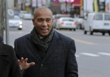 Democratic presidential candidate former Massachusetts Gov. Deval Patrick arrives to campaign Thursday, Nov. 14, 2019, at The Bridge Cafe in Manchester, N.H. (AP Photo/Charles Krupa)