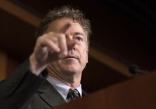 Sen. Rand Paul, R-Ky., calls on a reporter during a news conference on Capitol Hill in Washington, Thursday, Jan. 30, 2020, during the impeachment trial of President Donald Trump on charges of abuse of power and obstruction of Congress. (AP Photo/ Jacquelyn Martin)