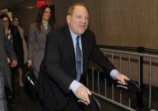 Harvey Weinstein arrives at court for his trial on charges of rape and sexual assault, Wednesday, Jan. 29, 2020 in New York.(AP Photo/Richard Drew)