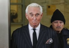 "FILE - In this Feb. 1, 2019 file photo, former campaign adviser for President Donald Trump, Roger Stone, leaves federal court in Washington. The Justice Department said Tuesday it will take the extraordinary step of lowering the amount of prison time it will seek for Roger Stone, an announcement that came just hours after President Donald Trump complained that the recommended sentence for his longtime ally and confidant was ""very horrible and unfair."" (AP Photo/Pablo Martinez Monsivais)"
