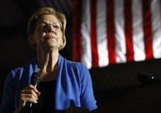 In this March 3, 2020 photo, Democratic presidential candidate Sen. Elizabeth Warren, D-Mass., speaks during a primary election night rally, at Eastern Market in Detroit. (AP Photo/Patrick Semansky)