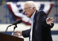Democratic presidential candidate Sen. Bernie Sanders, I-Vt., gestures during a campaign rally Saturday, Feb. 29, 2020, in Virginia Beach, Va. (AP Photo/Steve Helber)
