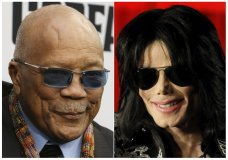 "This combination photo shows Quincy Jones at the world premiere of ""Black Godfather"" in Los Angeles on June 3, 2019, left, and Michael Jackson at a press conference in London on March 5, 2009. On Tuesday, May 5, 2020, a California appeals court overturned most of a 2017 jury verdict awarding Jones $9.4 million from the Michael Jackson estate. A jury had granted Jones the sum for the use of Jackson hits he produced that appeared in the concert film ""This Is It"" and Cirque du Soleil shows. But California's 2nd District Court of Appeal ruled that the jury misinterpreted a contract and took away some $6.9 million that jurors had said Jones was owed. (AP Photo)"