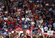 """FILE - In this Saturday, June 20, 2020, file photo, President Donald Trump speaks at BOK Center during his rally in Tulsa, Okla. The head of the Tulsa-County Health Department says Trump's campaign rally in late June """"likely contributed"""" to a dramatic surge in new coronavirus cases there. (Stephen Pingry/Tulsa World via AP, File)"""