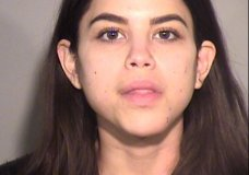 This booking photo provided by Ventura County Sheriff's Office in California shows Miya Ponsetto. Ponsetto, who falsely accused a Black teenager of stealing her phone and then tackled him at a New York City hotel on Dec. 26 , 2020 was arrested Thursday, Jan. 7, 2021 in her home state of California. She was jailed in Ventura County, a spokesperson for the sheriff's office there said. It wasn't immediately clear what charges she might face. (Ventura County Sheriff's Office via AP)