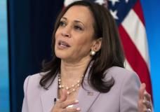 Vice President Kamala Harris speaks about voting rights, Wednesday, June 23, 2021, from the South Court Auditorium on the White House complex in Washington. (AP Photo/Jacquelyn Martin)