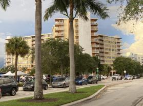 This photo shows the 156-unit Crestview Towers, Friday, July 2, 2021 in North Miami Beach, Fla. The city of North Miami Beach ordered the evacuation of Crestview Towers, a condominium building Friday after a review found unsafe conditions about 5 miles from the site of last week's deadly collapse in South Florida. (AP Photo/Rebecca Santana)