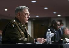 Chairman of the Joint Chiefs of Staff Gen. Mark Milley speaks during a Senate Armed Services Committee hearing on the conclusion of military operations in Afghanistan and plans for future counterterrorism operations, Tuesday, Sept. 28, 2021, on Capitol Hill in Washington.. (Sarahbeth Maney/The New York Times via AP, Pool)