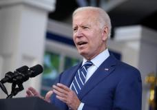 FILE - In this Sept. 27, 2021, file photo President Joe Biden delivers remarks on COVID-19 during an event in the South Court Auditorium on the White House campus in Washington. (AP Photo/Evan Vucci, File)