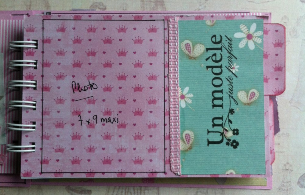 Album scrapbooking naissance fille  (4/6)