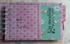 Version Fille mini album scrapbooking tuto14