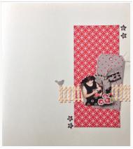 Page Bonus Océanie, une enveloppe avec un tag et de la ficelle