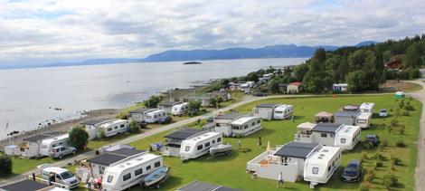 Påsketuristene stortrives på Hauganfjæra Camping ytterst på Frosta