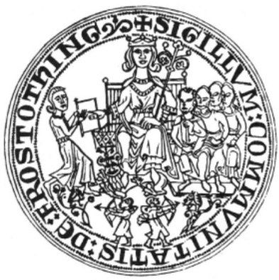 Frostatingsseglet - Kong Magnus Lagabøte overrekker den nye Frostatingsloven til lagmannen på Frostatinget i 1274