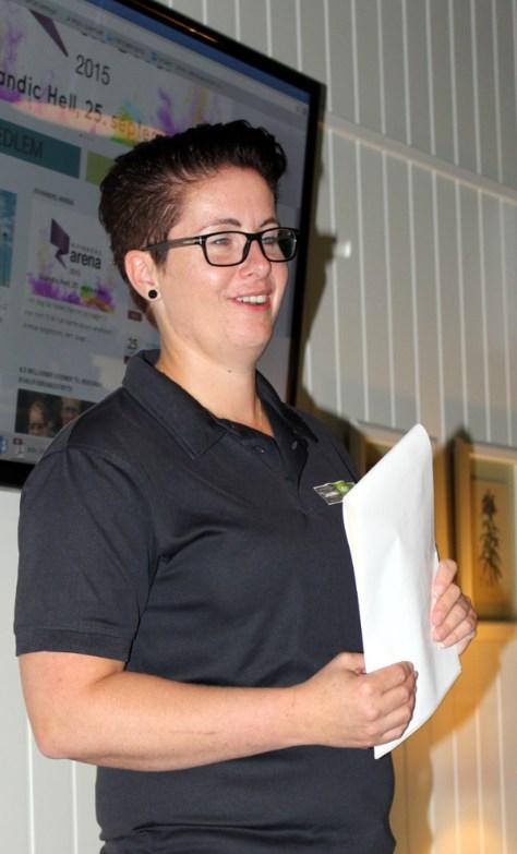 Maren Stene Almlid fortalte om utviklingen av Stene Gård