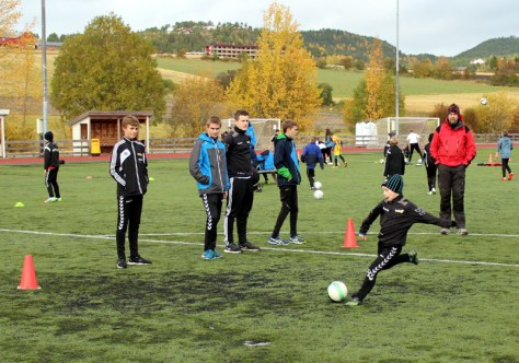 Even Bratsvedal Berg med godt tilslag på ballen!