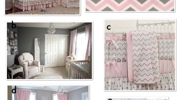 Pink and Gray Nursery Design Ideas and Inspiration www.frostedevents.com