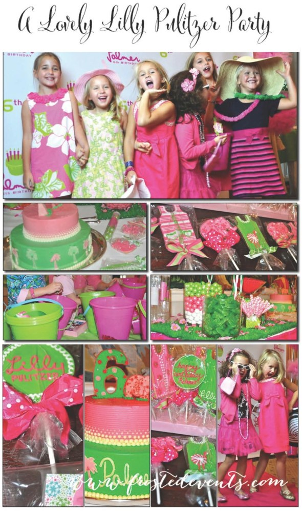 Lilly Pulitzer Theme Party www.frostedevents.com Girls Birthday Party Ideas