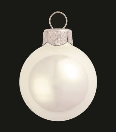 12 Pear Winter White Christmas Ornaments
