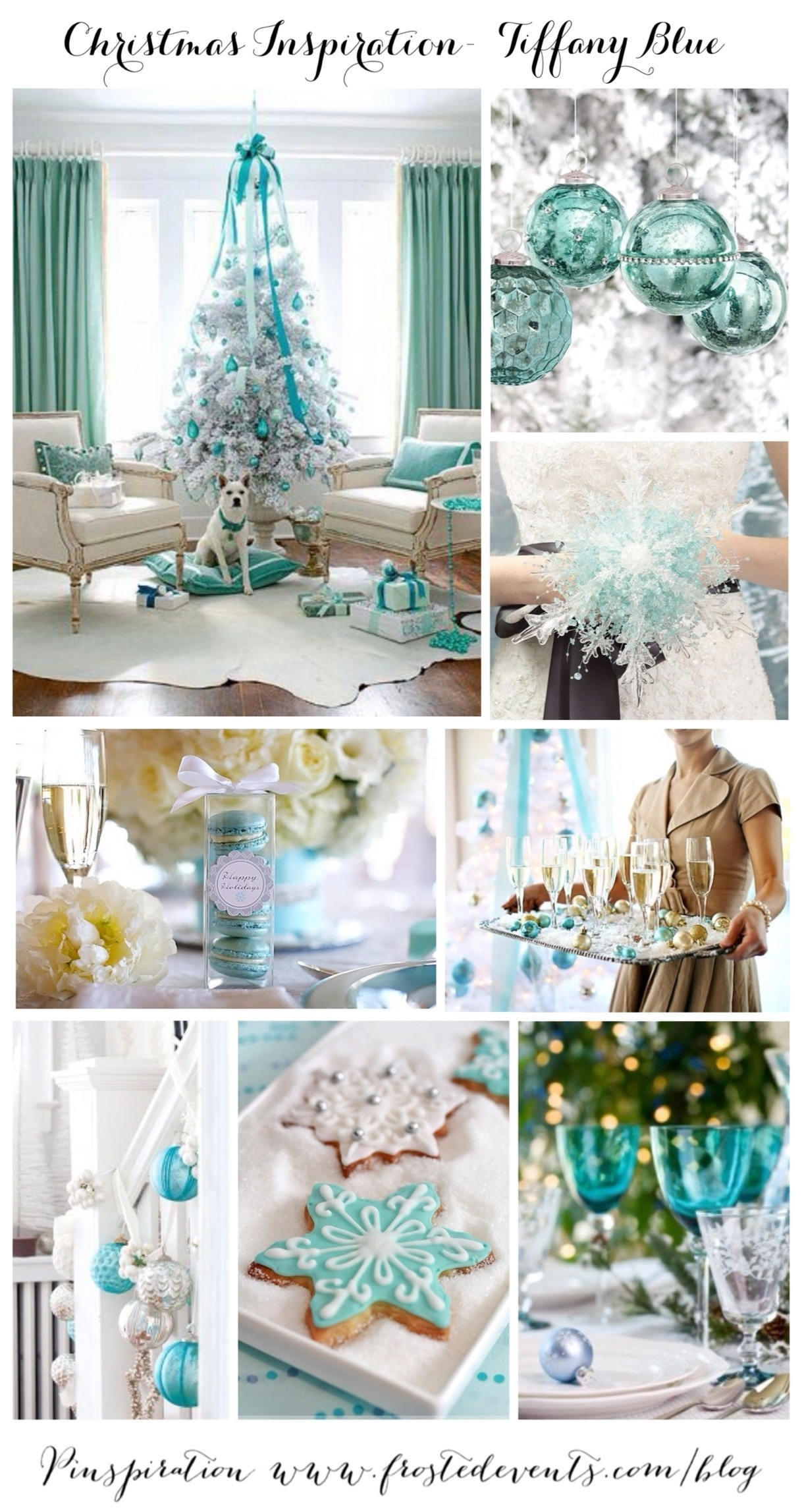 christmas inspiration tiffany blue wwwfrostedeventscom aqua christmas tree decor - Tiffany Blue Christmas Decorations