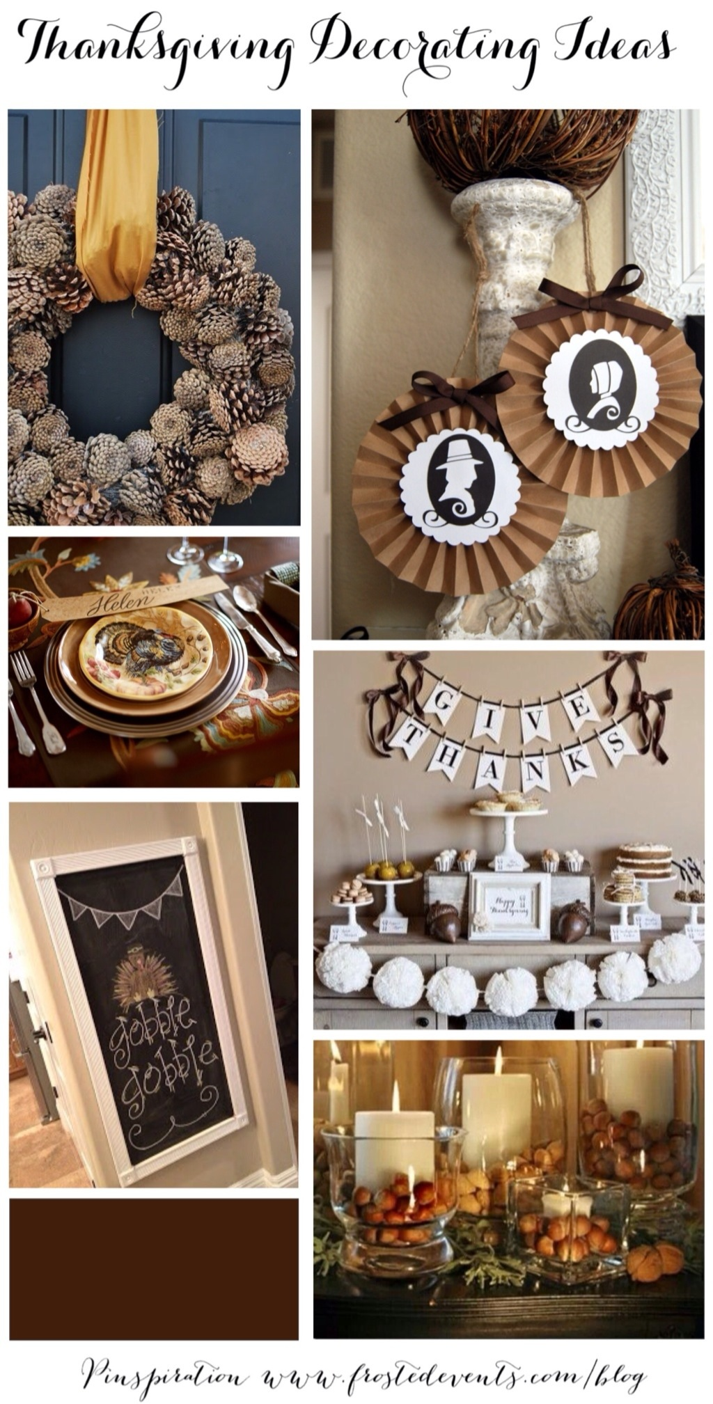 Thanksgiving decorating ideas, how to style your home for Thanksgiving. Holiday decor for setting a holiday table, beautiful door wreaths and classic fall decor  @frostedevents