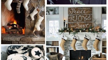 Holiday Inspiration- Winter Lodge www.frostedevents.com Natural Rustic Christmas Ideas