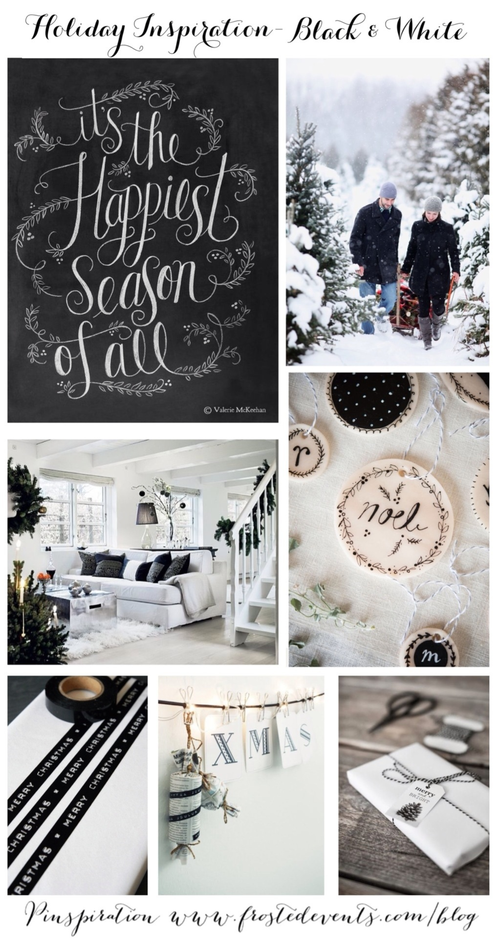 Christmas Decorations - Ideas for Holiday Inspiration Black and White