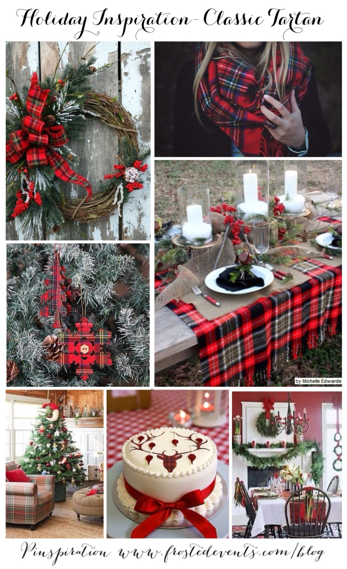 Holiday Inspiration -Classic Tartan Plaid Christmas decor, holiday ideas via Misty Nelson style blogger + influencer frostedevents.com @frostedevents