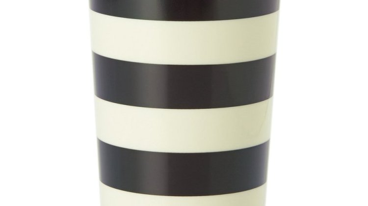 Kate Spade Black and White Stripe Mug