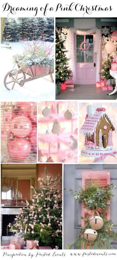 Dreaming of a Pink Christmas- Holiday Ideas and Inspiration www.frostedevents.com