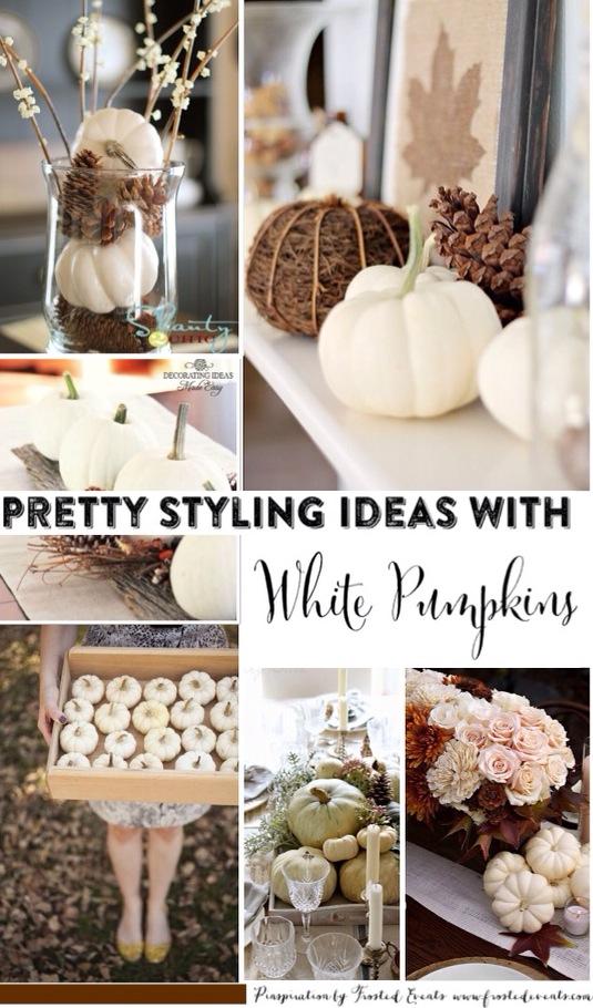 Pretty Style Ideas Using White Pumpkins