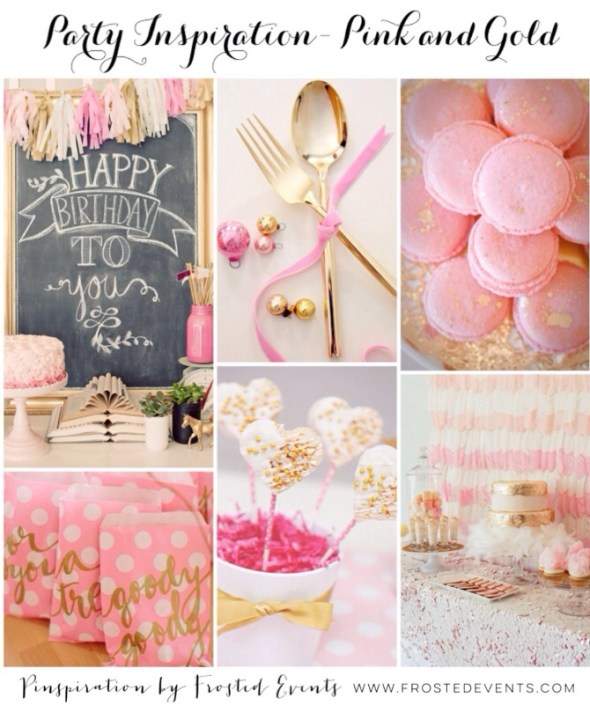 Pink and Gold Party Ideas and Inspiration www.frostedevents.com