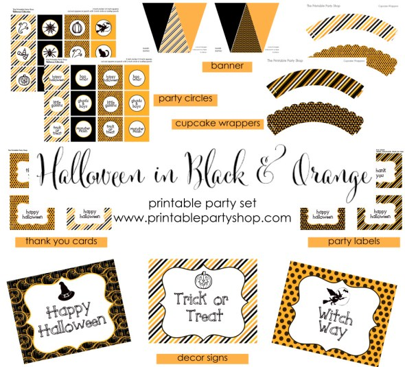 Free Halloween Printables Download This Party Set www.frostedevents.com