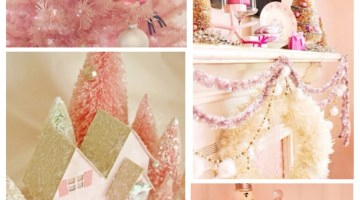 Holiday Inspiration Pink Shabby Chic Christmas