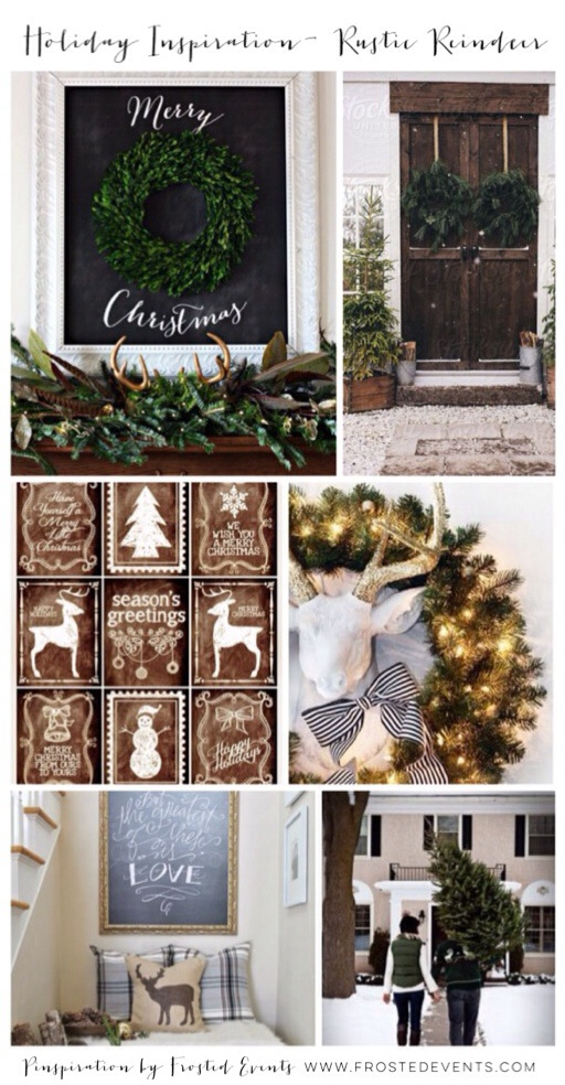 Christmas Inspiration- Rustic Reindeer www.frostedevents.com