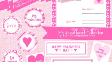 Valentines Day Party Free Printables www.frostedevents.com
