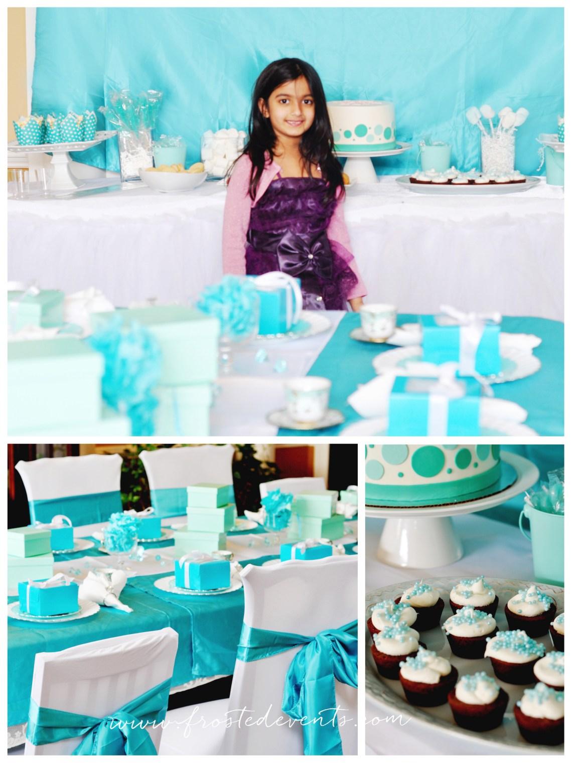 Fancy Tiffany Theme Tea Party wwwfrostedeventscom