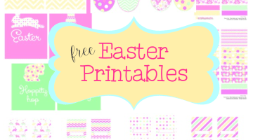Free Easter Printables Set- Frosted Events www.frostedevents.com