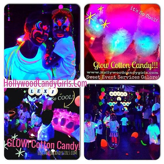 Neon Glow in the Dark Party IDeas Teen Party Glow Cotton Candy