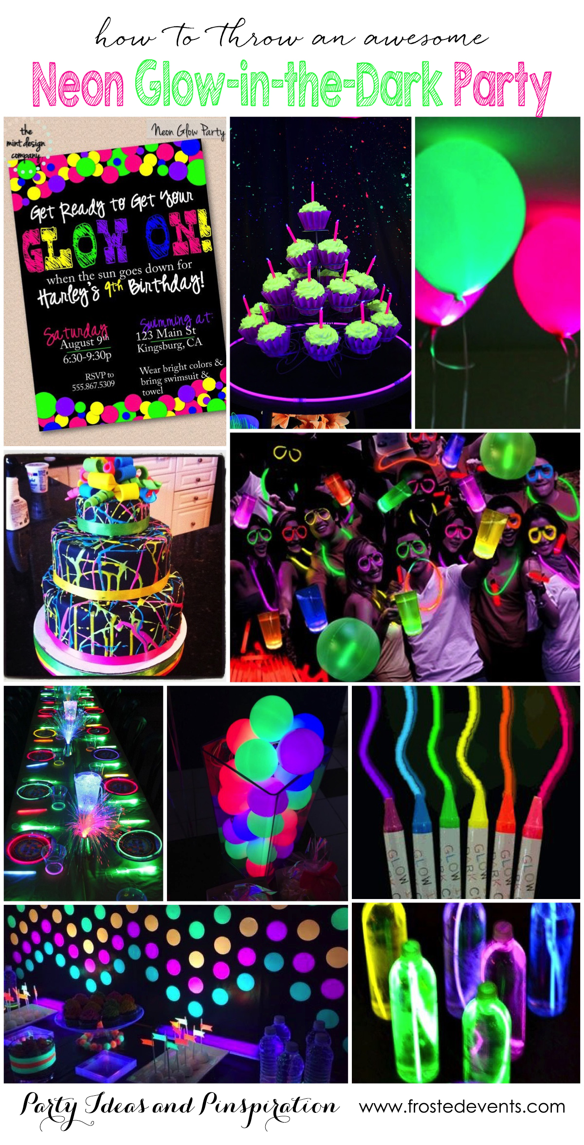 Marvelous Christmas Party Ideas For Tweens Part - 5: Party Themes - Neon Glow In The Dark Party Ideas Frostedevents.com