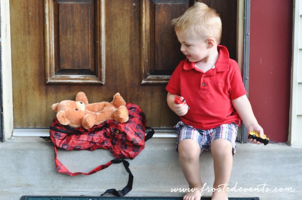 Back to School - Picked out our first backpack, a PetSac buddy! Stuffed animal and backpack in one