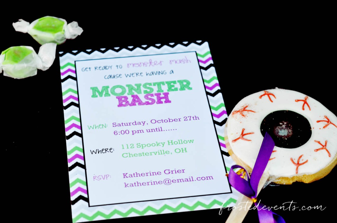 Free Printable Party Invitation! Halloween Party Themes - Monster Mash Fun Halloween Party for Kids Ideas + Halloween Printables