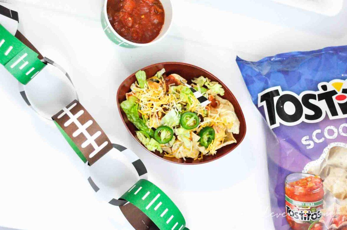 Football Party Ideas, Gametime Snack Ideas Super Bowl Nacho Bar with Tostitos Food Ideas