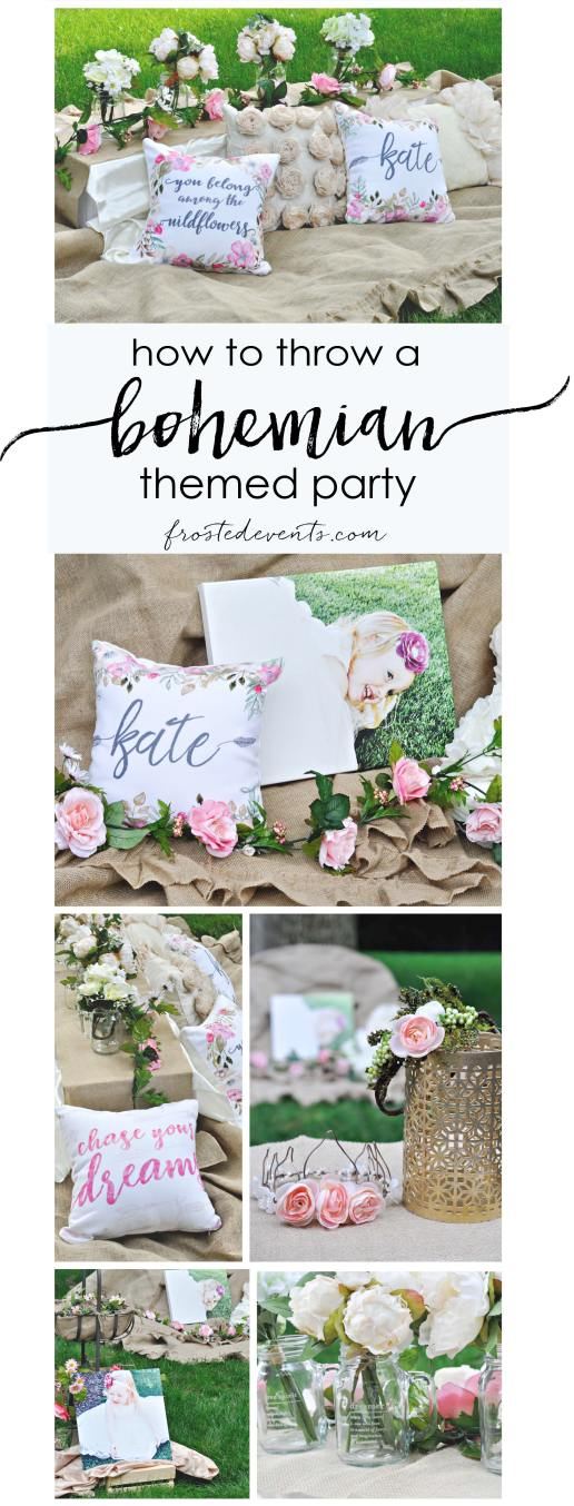 Bohemian Party Ideas Boho Birthday Baby Shower Bridal Shower Inspiration