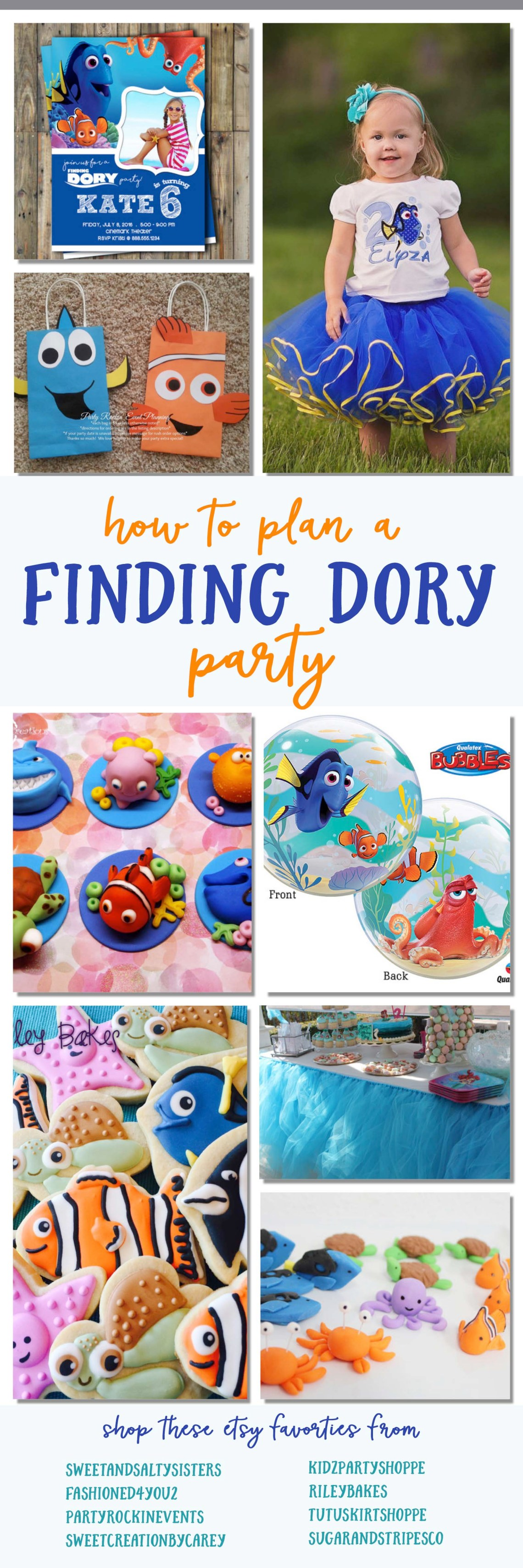 Finding Dory Party Finding Nemo Birthday Party Ideas