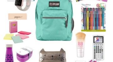 Back to School Shopping Checklist Girls Teens Supplies