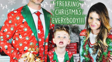 How to DIY the Perfect Family Holiday Photo via Misty Nelson @frostedevents frostedmomscom Ugly Christmas Sweaters from fauxrealshirtcom