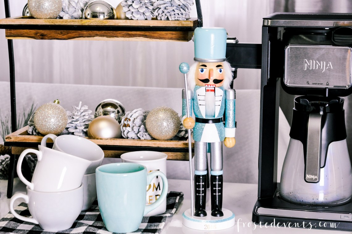 Holiday Parties - How to Be a Great Hostess and Make Guests Feel at Home via Misty Nelson @frostedevents Ninja Coffee Bar System spon