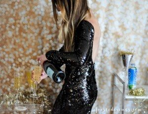 New Years Eve Party Cocktails Pineapple Coconut Prosecco Sparkler Recipe with ZICO Coconut Water via Misty Nelson frostedMOMS blog @frostedevents